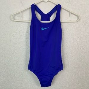 Nike One Piece Girl's Blue Swimsuit